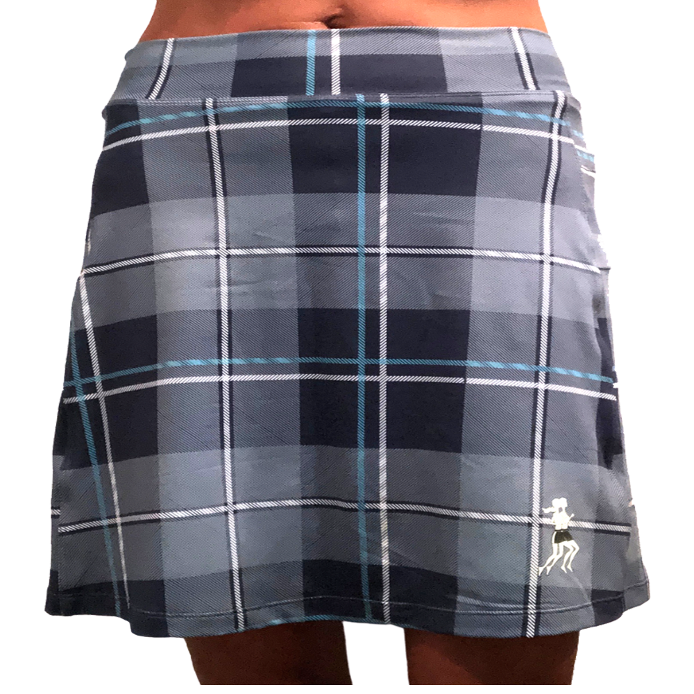 Blue Plaid Athletic Skirt