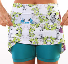blue blossom turquoise compression shorts