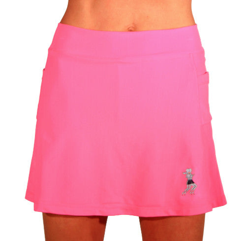 bubblegum pink triathlon skirt