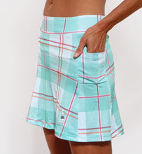 caribbean plaid athletic skirt pockets