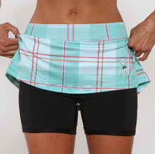 caribbean plaid compression shorts