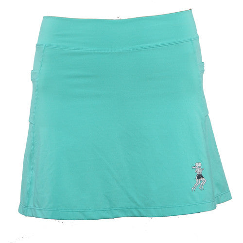 caribbean blue athletic skirt front