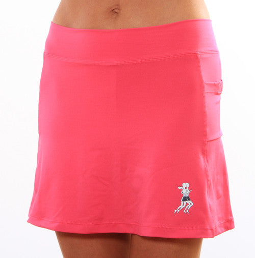 hot pink athletic skirt
