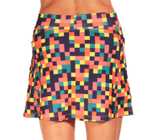 colorblock athletic skirt back