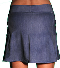 denim athletic skirt back