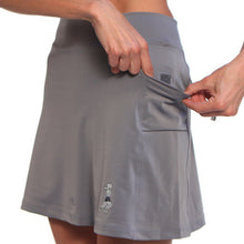 gray athletic skirt pockets