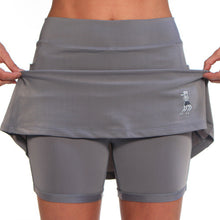 gray athletic skirt compression shorts