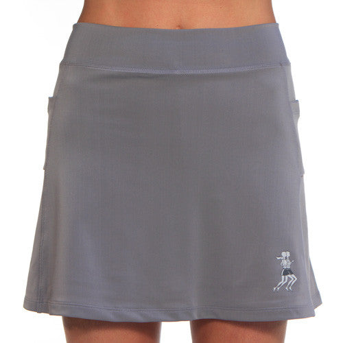 gray athletic skirt