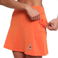 mandarin orange athletic skirt pockets