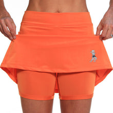 mandarin orange athletic skirt compression shorts
