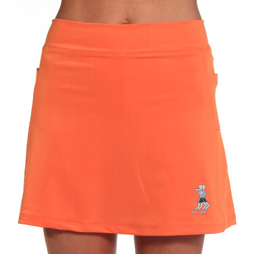 mandarin orange athletic skirt