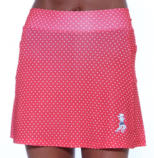 red dot golf skirt