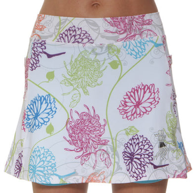 mums in bloom athletic skirt