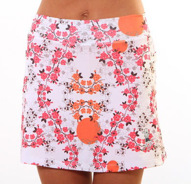 cerise blossom athletic skirt