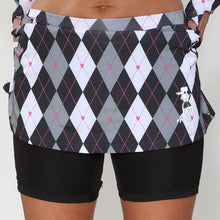 preppy black athletic skirt compression shorts