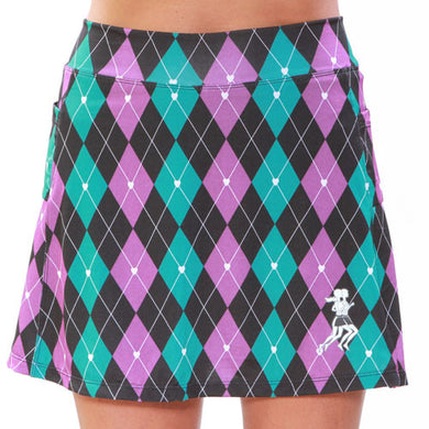preppy purple athletic skirt