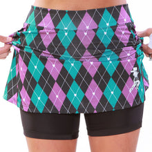 preppy purple athletic skirt compression shorts