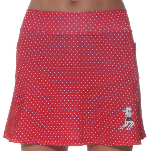 red polka dot athletic skirt
