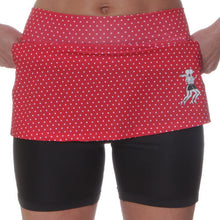 red polka dot athletic skirt compression shorts