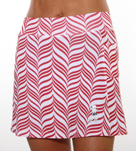 red candystripe athletic skirt