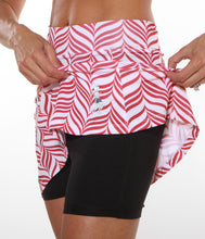 red candycane print compresion shorts
