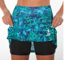 seacamp camo golf skirt compression shorts