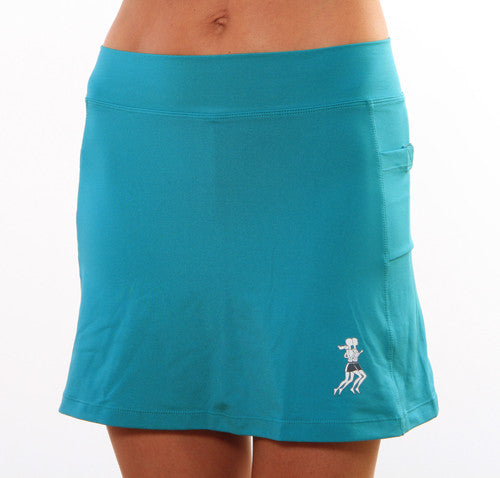 turquoise athletic skirt