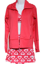 watermelon mesh jacket and watermelon hearts athletic skirt