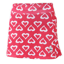 watermelon hearts athletic skirt