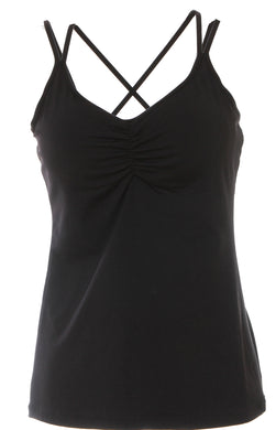black strappy tank front