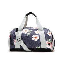 Navy Coral Floral Gear Duffel Bag