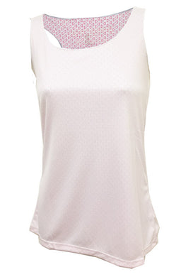 keep it chill tank white & pink
