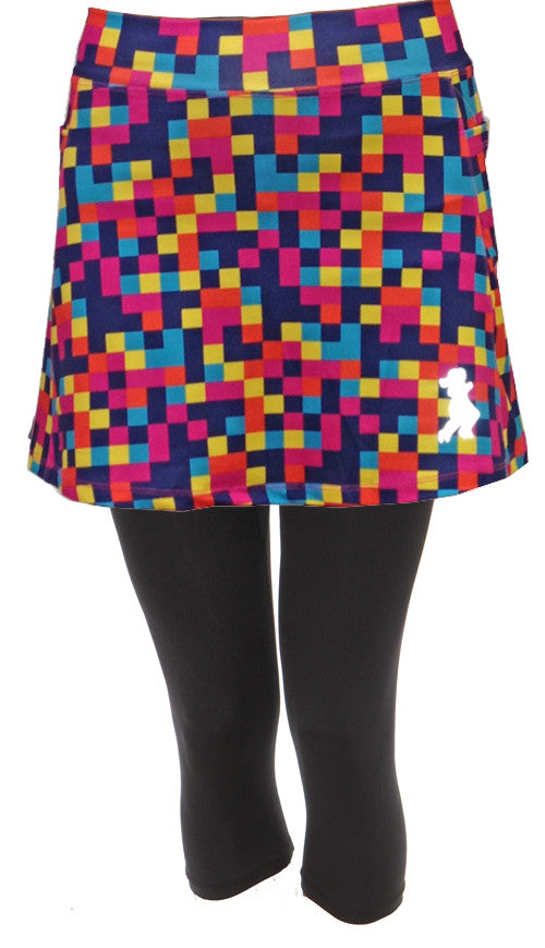 colorblock capri skirt