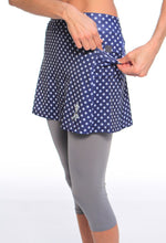 midnight stars capri skirt pockets