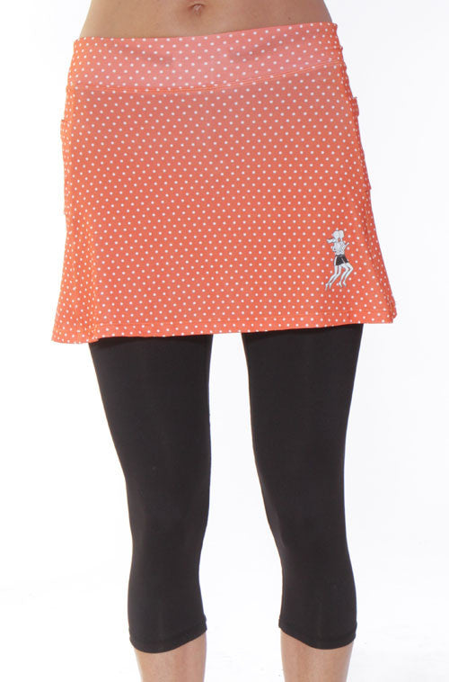 pumpkin dot capri skirt