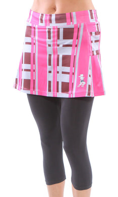 urban pink capri skirt