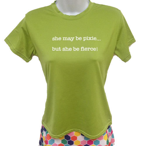 glot in the dark tee pixie chartreuse green