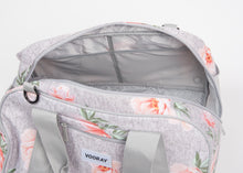 Gray Coral Floral Gear Duffel Bag