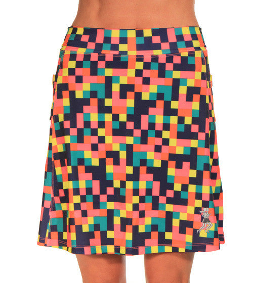 colorblock golf skirt front