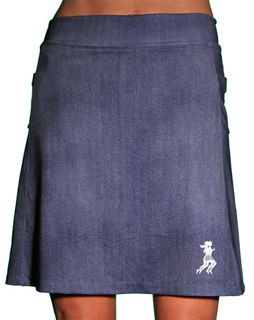 denim golf skort