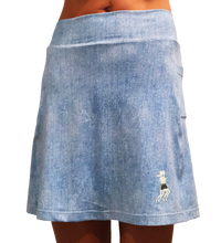 Faded Denim Golf Skirt
