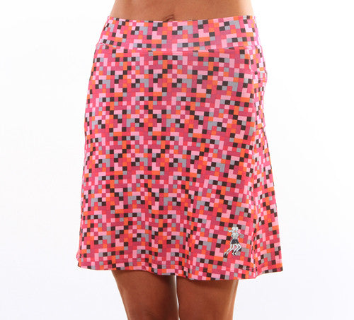 pink pixel golf skirt