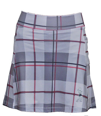 pink plaid golf skirt