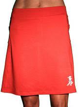 red ultra golf skirt