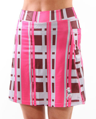 urban pink long running skirt