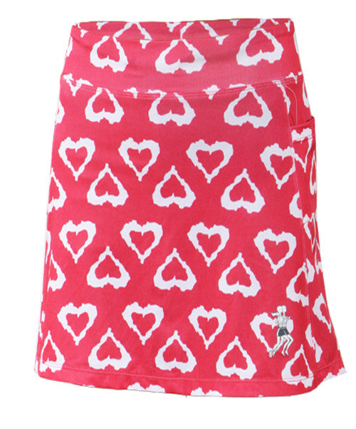 watermelon hearts golf skirt