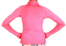 bubblegum half zip pullover back