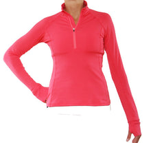 watermelon half zip pullover