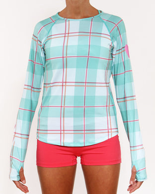 caribbean plaid long sleeve
