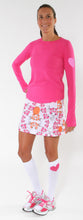 cerise long sleeve pink blossom running skirt